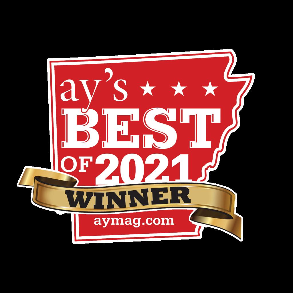 AY magazine's Best of 2021 winner banner
